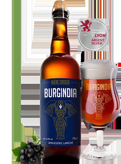 Bière Burgindia Cassis - Brasserie Larché