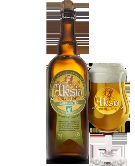 Bière Alesia Blonde Sans Gluten Bio - Brasserie Larché