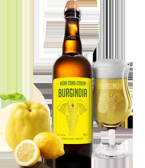 Bière Burgindia Coing Citron - Brasserie Larché